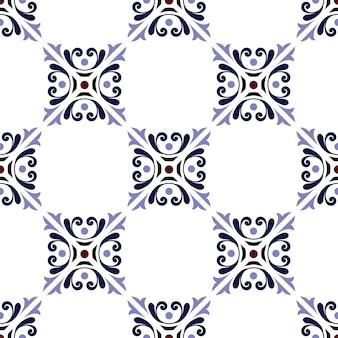 Vector de patrón de azulejos vintage