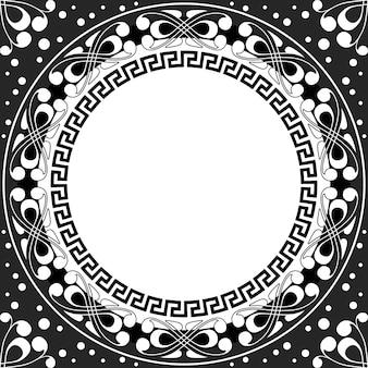 Vector patrón blanco de espirales, remolinos y cadenas