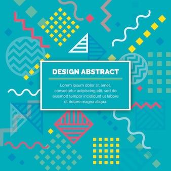 Vector de patrón geométrico abstracto de diseño