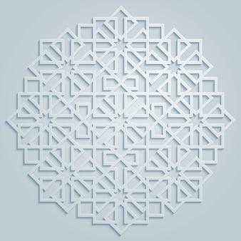 Vector patrón geométrico árabe