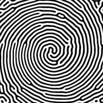 Vector patrón de líneas redondeadas orgánicas en blanco y negro.