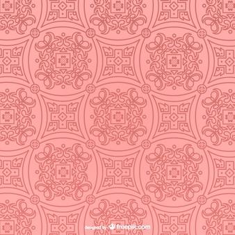 Vector de patrón retro rosa
