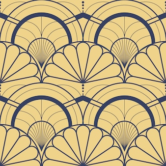 Vector patrón de revestimiento de azulejos geométricos modernos
