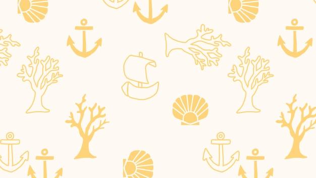Vector de patrones sin fisuras de animales submarinos
