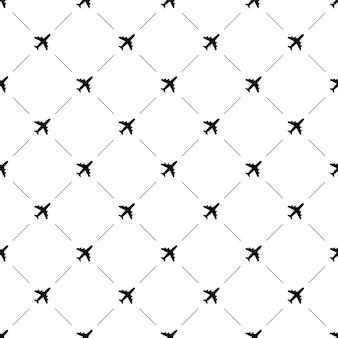 Vector de patrones sin fisuras, avión, editable se puede utilizar para fondos de páginas web, rellenos de patrón