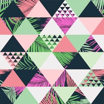 Vector de patrones sin fisuras de moda tropical