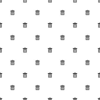 Vector de patrones sin fisuras, papelera, editable se puede utilizar para fondos de páginas web, rellenos de patrón