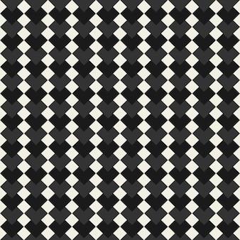 Vector de patrones sin fisuras textura de fondo abstracto con forma de mosaico monocromo de corazones hexagonales