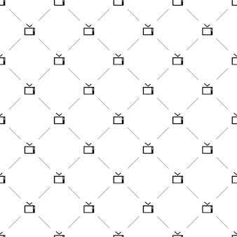 Vector de patrones sin fisuras, tv, editable se puede utilizar para fondos de páginas web, rellenos de patrón