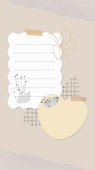 Vector de pegatinas de goodnotes, nota de pegatina en forma de corazón
