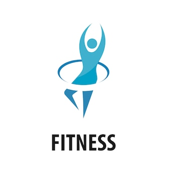 Vector people fitness logo