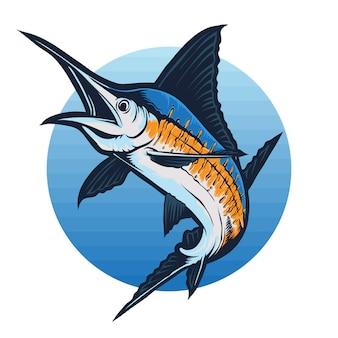 Vector de pez marlin