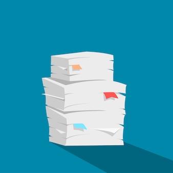 Vector de pila de papel
