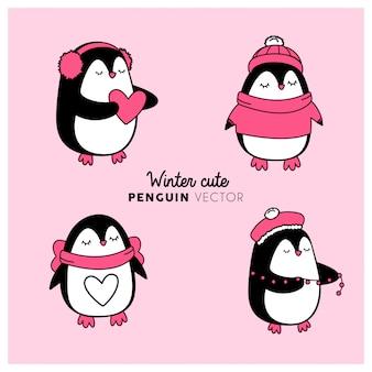 Vector pingüino