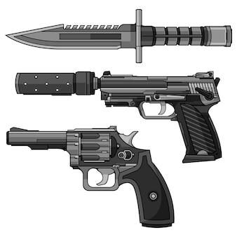 Vector de pistola revólver