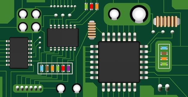 Vector de placa de circuito electrónico