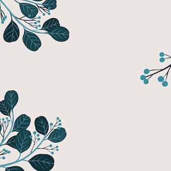 Vector de plantilla de anuncios sociales de espacio de copia botánica