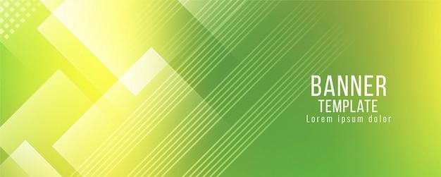 Vector de plantilla de bandera verde con estilo moderno