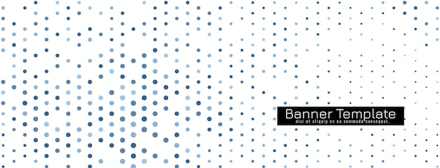 Vector de plantilla de banner de diseño de semitono elegante decorativo vector gratuito