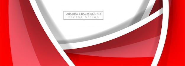 Vector de plantilla de banner de onda abstracta
