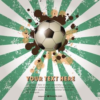 Vector plantilla de cartel de fútbol en brasil