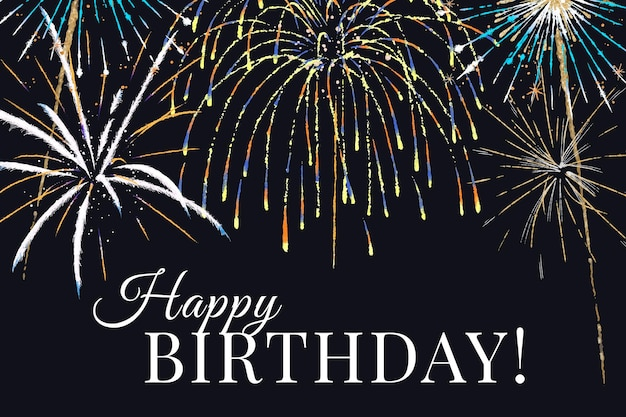 Vector de plantilla de celebración para banner con texto editable, feliz cumpleaños