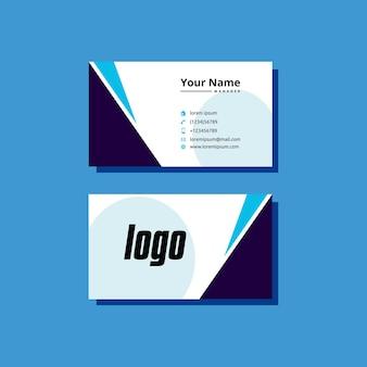 Vector de plantilla de diseño de estilo de tarjeta de visita elegante moderno simple creativo