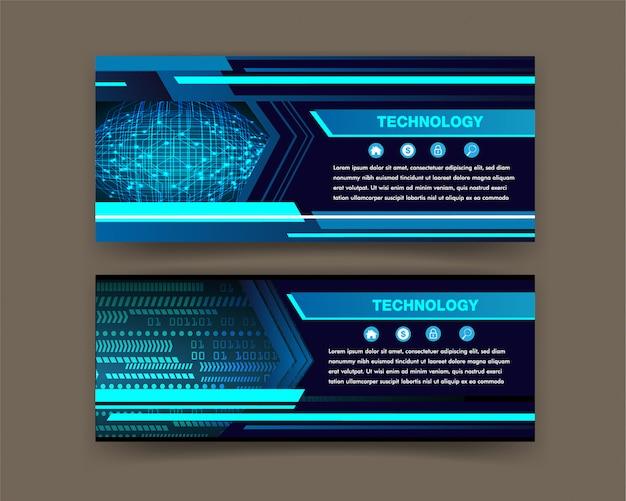 Vector de plantilla de diseño de folleto, banner de cuadro de texto