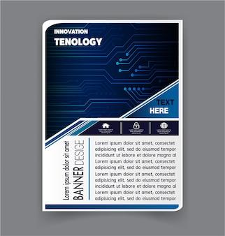 Vector de plantilla de diseño de folleto