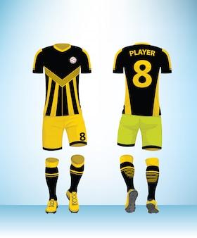 Vector de plantilla de diseño de fútbol uniforme