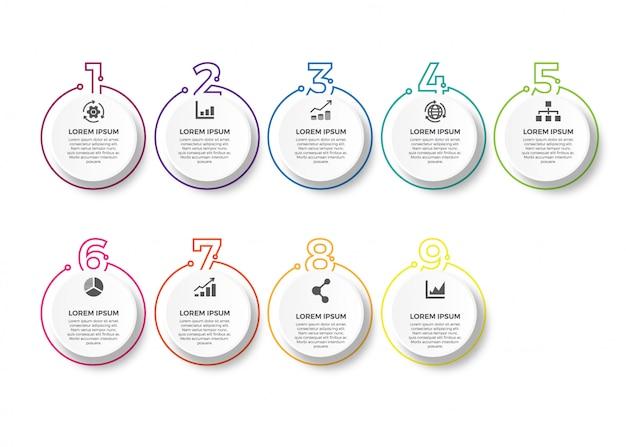 Vector plantilla de diseño infográfico
