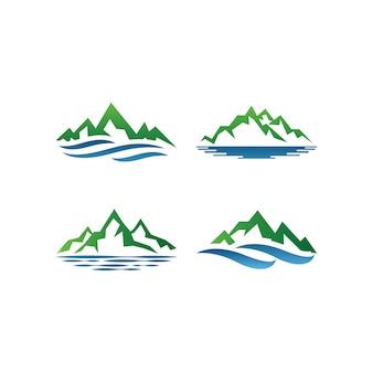 Vector de plantilla de diseño de logotipo de montaña