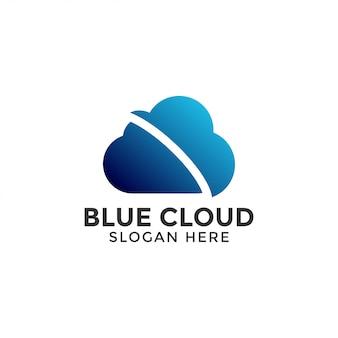 Vector de plantilla de diseño de logotipo de nube aislado