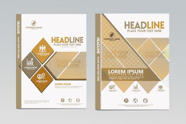 Vector de plantilla de diseño de portada de informe anual con diseño dinámico y futurista.