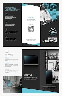 Vector de plantilla de folleto comercial para empresa de marketing