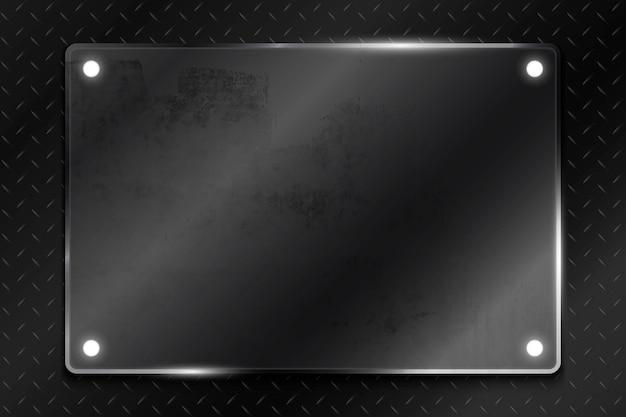 Vector de plantilla de fondo de tecnología simple negro