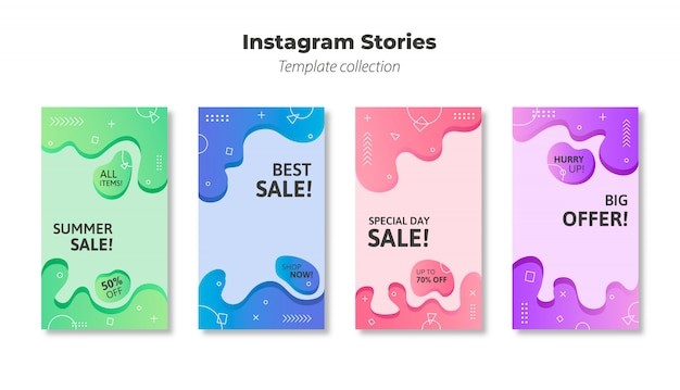 Vector de plantilla de historias de instagram