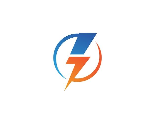 Vector de plantilla de logotipo flash de rayo