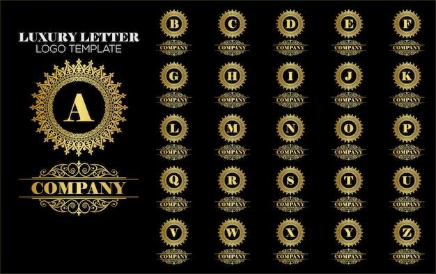 Vector de plantilla de logotipo royal vintage