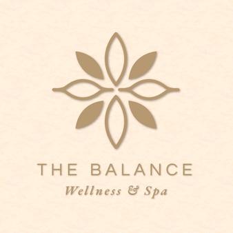 Vector de plantilla de logotipo de spa editable para salud y bienestar