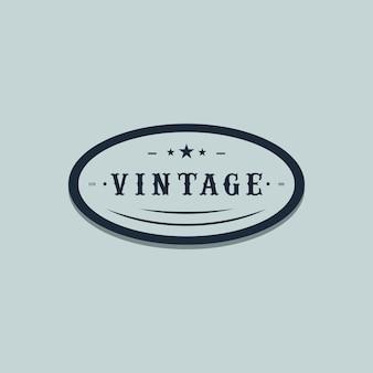 Vector de plantilla de logotipo vintage