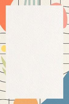 Vector de plantilla de marco botánico abstracto