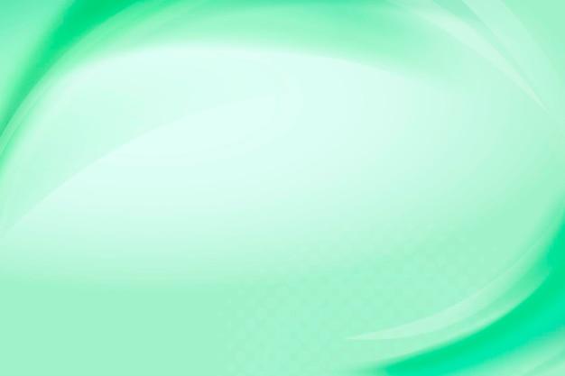 Vector de plantilla de marco de curva verde menta