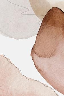 Vector de plantilla social con patrón abstracto de tono de tierra