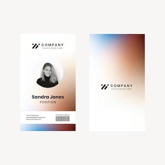 Vector de plantilla de tarjeta de identificación de personal para la identidad corporativa de la empresa de tecnología