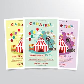 Vector de plantilla de volante de carnaval