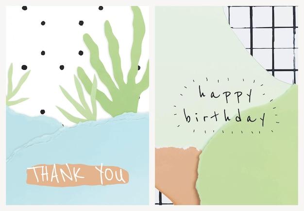 Vector de plantillas de arte de papel lindo para tarjeta de invitación