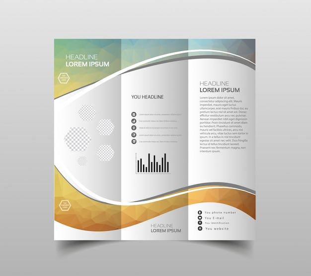 Vector de plantillas de diseño de folleto tríptico
