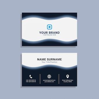 Vector premium de plantilla de tarjeta de visita corporativa