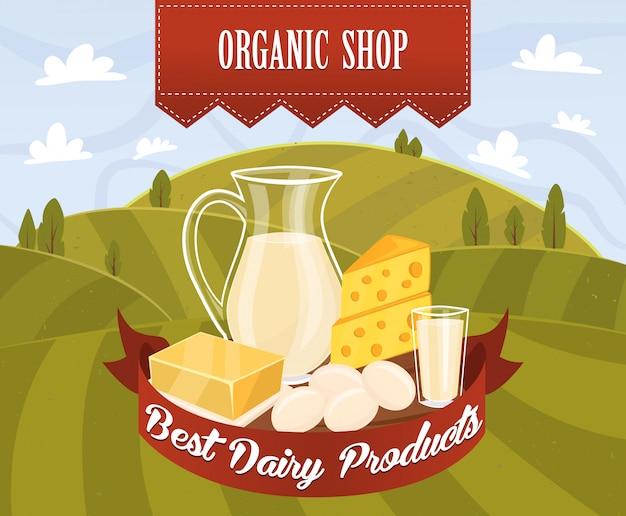 Vector de productos lácteos